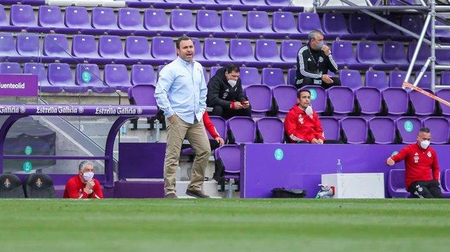 Sergio Gonzalez of Real Valladolid during La Liga football match between Real Valladolid and Atletico de Madrid at Jose Zorrilla stadium on May 21, 2021 in Valladolid, Spain.