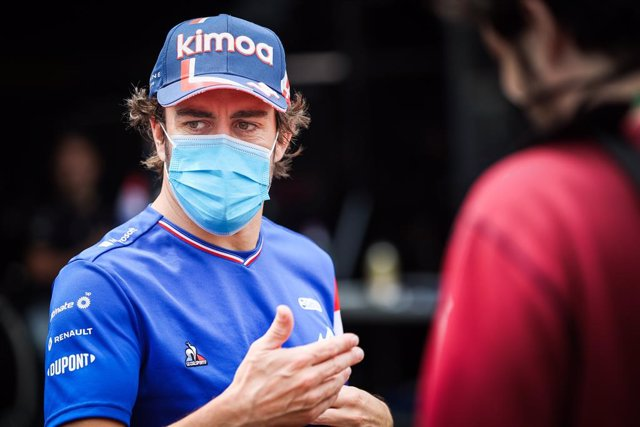 ALONSO Fernando (spa), Alpine F1 A521, portrait during the 2021 Formula One World Championship, Grand Prix of Monaco from on May 20 to 23 in Monaco - Photo Antonin Vincent / DPPI