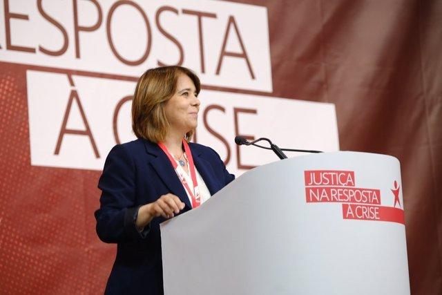 La coordinadora del Bloque de Izquierda, Catarina Martins