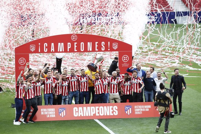 Atlético de Madrid celebra su Liga en el Metropolitano