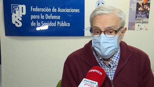 Archivo - Presidente de la Asociación para la Defensa de la Sanidad Pública de Madrid, Marciano Sánchez Bayle.