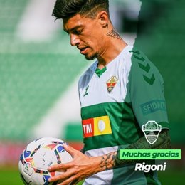 El delantero argentino Emiliano Rigoni se marcha del Elche al Sao Paulo brasileño.