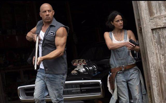 Vin Diesel y Michelle Rodriguez en Fast & Furious 9