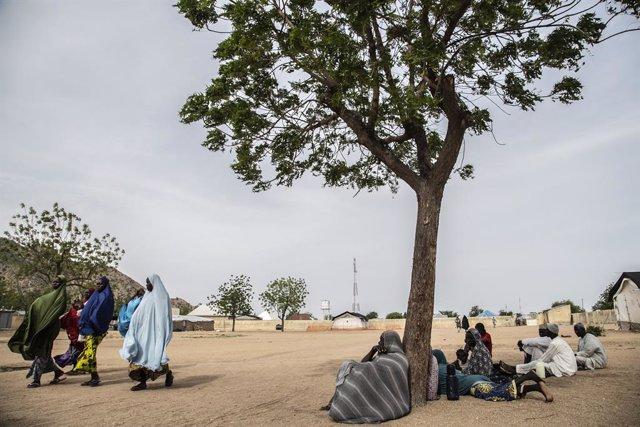 Archivo - Desplazados por la violencia en Nigeria