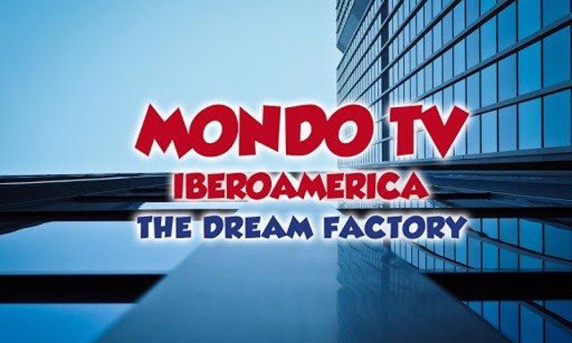 Imagen del logotivo de la web de Mondo TV Iberoamérica, una de las filiales de Mondo TV.