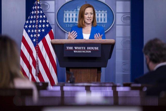 Archivo - La portavoz de la Casa Blanca, Jen Psaki.