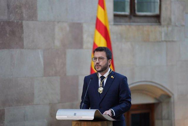 Discurs de Pere Aragonès com a president de la Generalitat