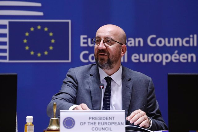 HANDOUT - 24 May 2021, Belgium, Brussels: European Council President Charles Michel attends a special EU summit. Photo: Dario Pignatelli/EU Council/dpa - ATTENTION: editorial use only and only if the credit mentioned above is referenced in full