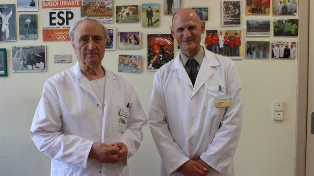A la izquierda, Prof. Pedro Guillén y a la derecha Prof. Juan Carlos Izpisúa Belmonte, ideadores de este estudio.