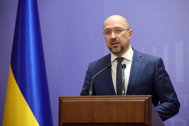 Archivo - El primer ministro de Ucrania, Denis Shmigal