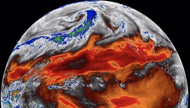 Uno de los procesos físicos observados en el estudio fue el vapor de agua tropical, como se muestra en esta imagen de la NASA.