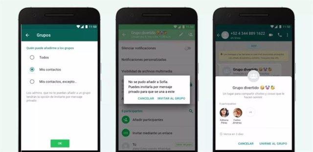 Configuración de privacidad de los Grupos de WhatsApp