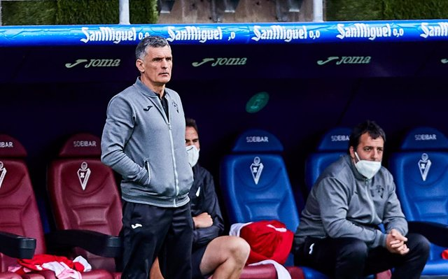 Jose Luis Mendilibar, head coach of SD Eibar SAD during the Spanish league, La Liga Santander, football match played between SD Eibar SAD and Barcelona FC at Ipurua stadium on May 22, 2021 in Eibar, Spain.