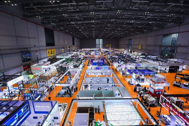 Intelligent Industry and Information Technology Exhibition Area of the CIIE.