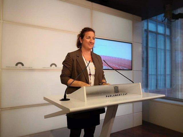 La portaveu del PSC-Units al Parlament, Alícia Romero.