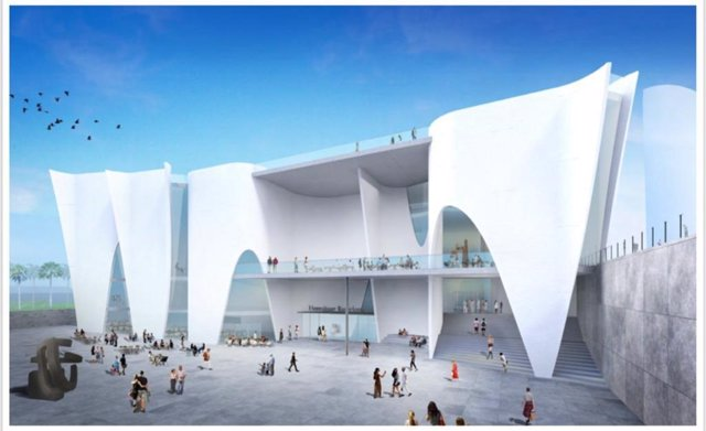 Archivo - Arxiu - Projecte del Museu Hermitage (projecte de Toyo Ito) a la Nova Bocana del Port de Barcelona.