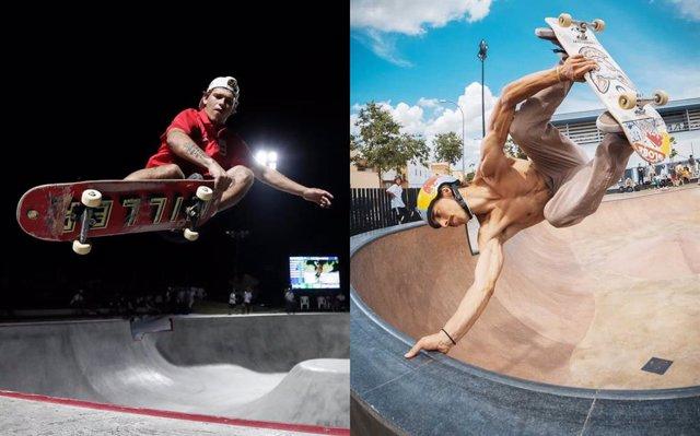 Archivo - Los skaters Jaime Mateu y Danny León se clasifican para Tokio