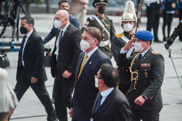 El presidente de Brasil, Jair Bolsonaro, en visita oficial a Ecuador para asistir a la investidura de Guillermo Lasso