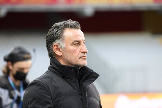 Christophe GALTIER coach LOSC Lille during the French championship Ligue 1 football match between RC Lens and LOSC on May 7, 2021 at Bollaert-Delelis stadium in Lens, France - Photo Laurent Sanson / LS Medianord / DPPI