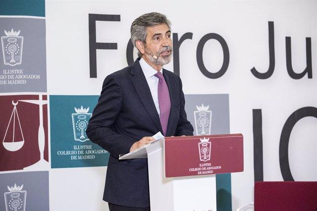El president del Tribunal Suprem i del Consell General del Poder Judicial, Carlos Lesmes.