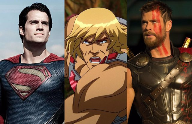 Henry Cavill y Chris Hemsworth pelean por ser He-Man en Masters del Universo