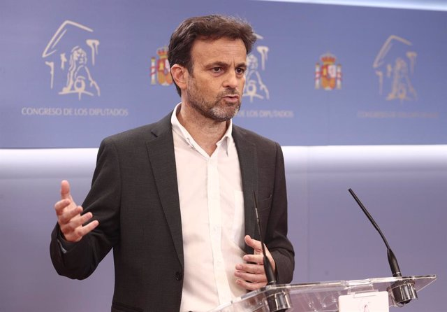 Archivo - Arxiu - El president del Grup Unides Podem al Congrés, Jaume Asens.