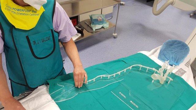La Universidad de Alicante reproduce el sistema arterial humano en 3D