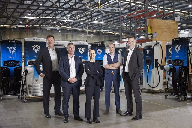 From left to right: David Toomey: Chief Revenue Officer, Michael Hipwood: Chief Financial Officer, Jane Hunter: Chief Executive Officer, James Kennedy: Co-Founder and Chief Technology Officer, Dr. David Finn: Co-Founder and Chief Growth Officer
