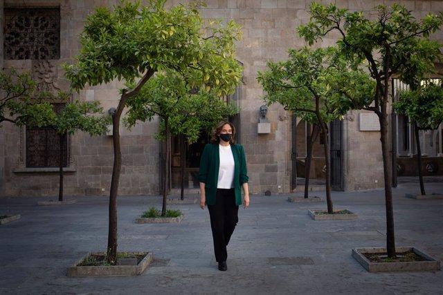 L'alcaldessa de Barcelona, Ada Colau, rep el president de la Generalitat, a 27 de maig de 2021, al Palau de la Generalitat, Barcelona, Catalunya, (Espanya).
