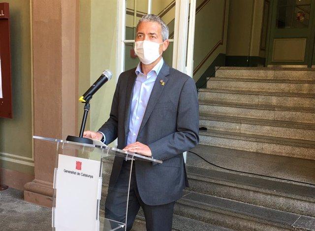 El conseller d'Educació de la Generalitat, Josep Gonzàlez-Cambray, en roda de premsa.