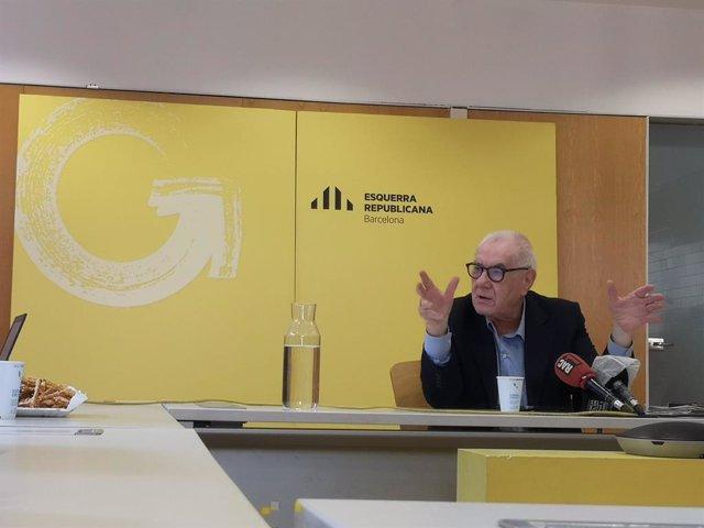 El líder d'ERC a l'Ajuntament de Barcelona, Ernest Maragall.