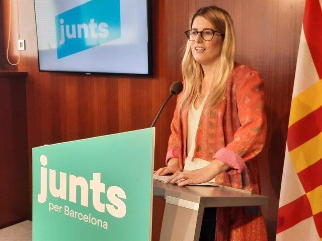Arxiu - Elsa Artadi (Junts) reclama al govern de Colau que aturi el recàrrec de l'impost turístic a Barcelona.