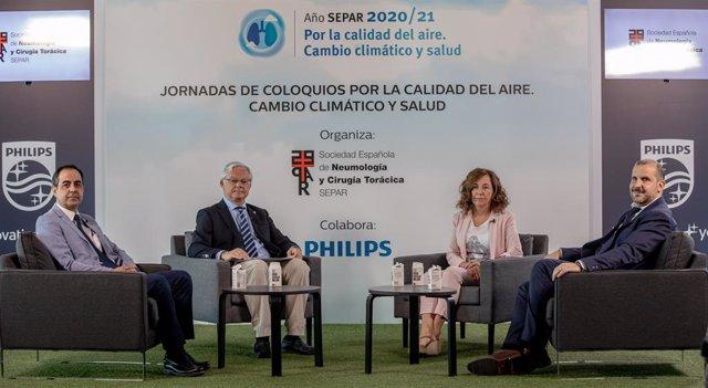 Segundo coloquio 'Por la calidad del aire. Cambio climático y salud', organizado por la Sociedad Española de Neumología y Cirugía Torácica (SEPAR), en colaboración con Philips Ibérica