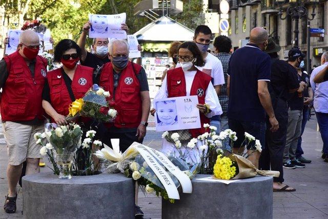 Archivo - Arxiu - Homenatge pels atemptats de Barcelona i Cambrils.