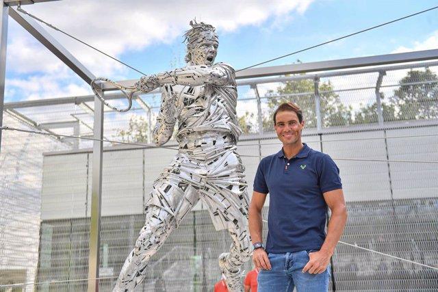 Roland Garros ensalza a Rafa Nadal con con una estatua