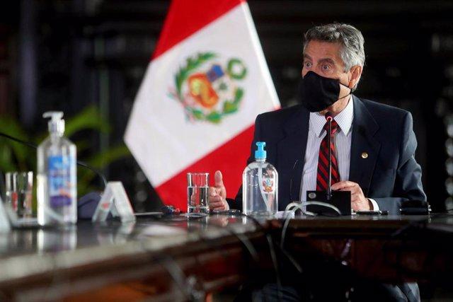 Archivo - El presidente de Perú, Francisco Sagasti