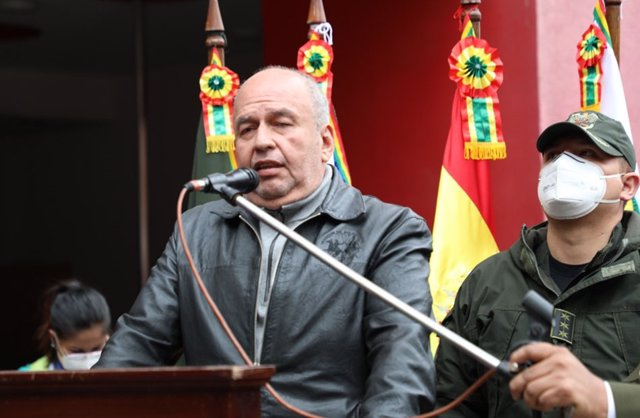 Archivo - El ministro de Gobierno de Bolivia, Arturo Murillo