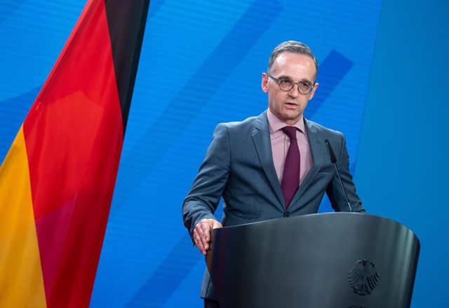 25 May 2021, Berlin: German Foreign Minister Heiko Maas speaks during a press conference with his Czech counterpart Jakub Kulhanek (Not Pictured) after their meeting at the Federal Foreign Office. Photo: Bernd von Jutrczenka/dpa Pool/dpa
