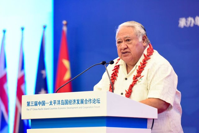 Archivo - El primer ministro de Samoa, Tuilaepa Aiono Sailele Malielegaoi.