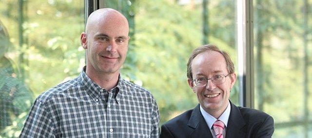 Alfonso Calvo y Luis Montuenga, investigadores del CIBERONC y del Cima Universidad de Navarra (foto de archivo)