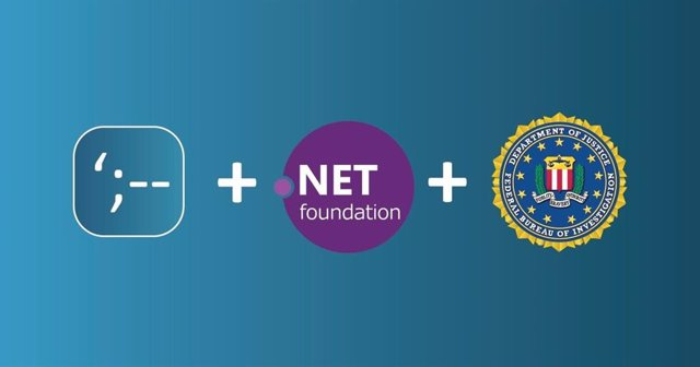 Logos de HIBP, .NET Foundation y el FBI.
