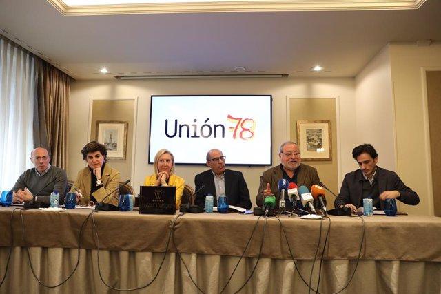 Archivo - Arxiu - Roda de premsa de presentació de la plataforma Unión 78.