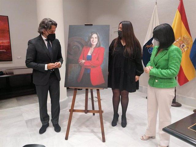 Presentación del retrato institucional de Carolina Darias