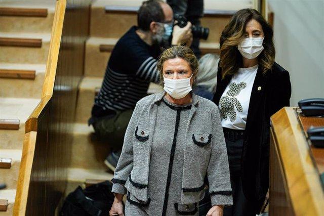 Archivo - La consejera de Salud, Gotzone Sagardui, en el parlamento vasco, Vitoria, Álava, País Vasco, (España), a 20 de febrero de 2021.