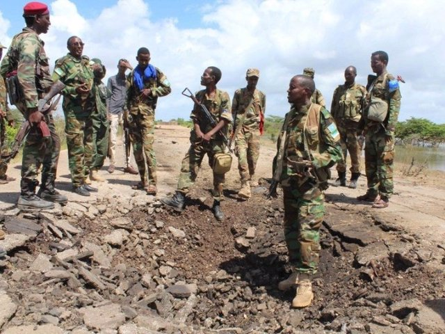 Archivo - Soldados de Somalia