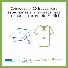 FPSOMC, CEEM y FMM convocan 22 ayudas para estudiantes de Medicina con dificultades económicas
