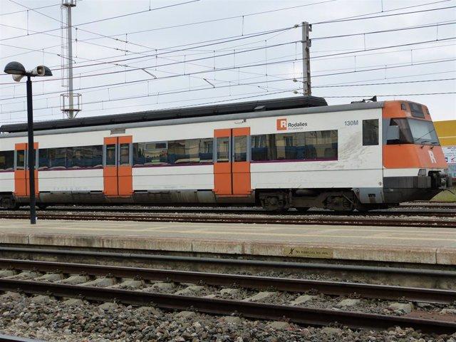 Archivo - Arxiu - Un tren de Rodalies.