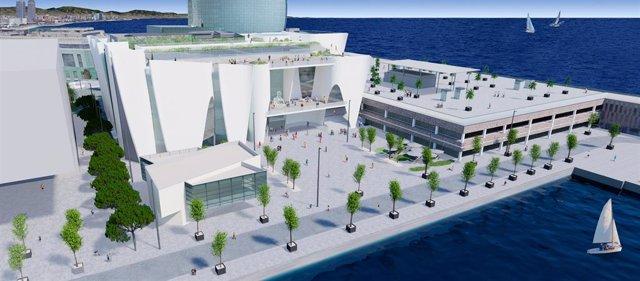 Projecte del Museu Hermitage Barcelona en la Nova Bocana del Port de Barcelona.