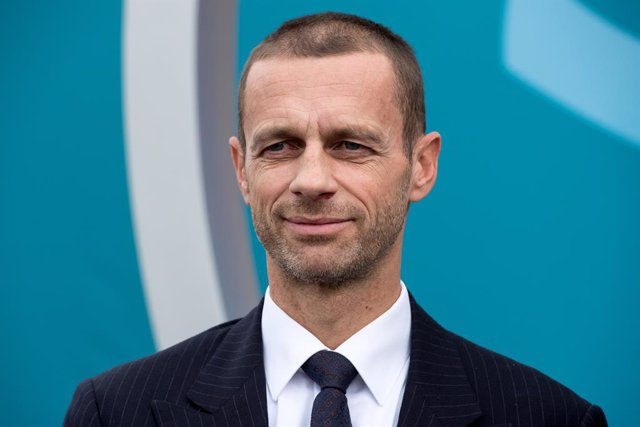 """Archivo - FILED - 27 October 2016, Bavaria, Munich: UEFA President Aleksander Ceferin, attends the presentation of the logo for the 2020 European Football Championship. Ceferin hopes Euro 2020 delayed to this summer because of the coronavirus will be """"as"""