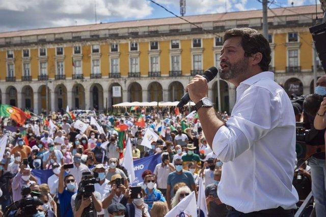 Archivo - André Ventura, líder del ultraderechista partido Chega
